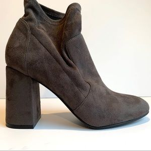 Abound grey microsuede booties, 7.5